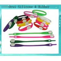 China Easy using  washable silicone shoe ties for boys and girls wholesale
