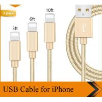 Buy cheap 3FT 6FT 10FT USB Data Cable IPhone Charger Cord 1m 1.8m 3m Length Customized from wholesalers