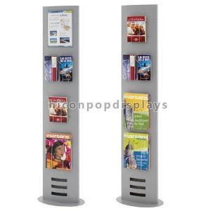 China Book Retail Store Flooring Display Stands Metal Newspaper Map Book Display Rack wholesale