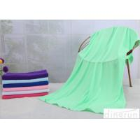 Quality 70*140cm Custom Printed Microfiber Cloth , Green Microfiber Towels For Cars  for sale