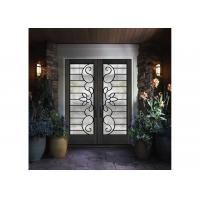 Buy cheap Mosaic Metal Front Doors With Glass Custom Spray Coating Hot Dip Galvanize from wholesalers