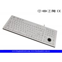 China IP68 106 Keys Waterproof Silicone Keyboard Built In Trackball And Backlight wholesale