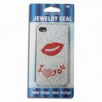 China Sticker for iPhone 4, Sexy Lips, Safe and Non-toxic wholesale