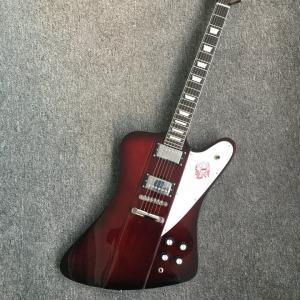 China Chibson firebird electric guitar dark red finish firebird guitar free shipping honeyburst firebird guitar wholesale