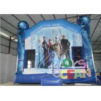 China Frozen Indoor Inflatable Bouncer Combo Theme Blue Castle With Slide wholesale