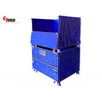 China Large load-bearing metal galvanized foldable storage cage with coarse mesh wire diameter wholesale
