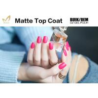 China Easy Soak Off  Nail Art Top Coat Uv Gel No Wipe Matte Type Good Saturation wholesale