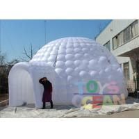 China Event Party / Outdoor Show Inflatable Tents With 2 Doors Tunnel White wholesale
