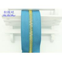 China 26 Inch Open Ended Long Chain Zipper Bright Tape Golden Metal Teeth For Bag And Garments wholesale