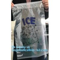 China China Suppliers LDPE Very Strong Plastic Ice Bag With Drawstring, leakproof ice cooler bag, heavy duty plastic ice bag w wholesale