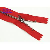 China Semi - Lock Slider 9 Inch Jeans Metal Zipper Yg Fastener Red / Blue Tape Customized wholesale