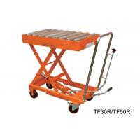 China Hydraulic Manual Hand Lift Table With Powder Coat Finish Frame , 300kg Load Capacity wholesale