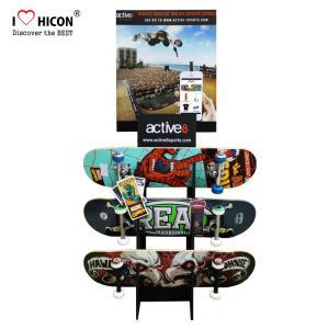China Custom Logo Wooden Display Racks Floor Skateboard Rack Display For Retail Store wholesale