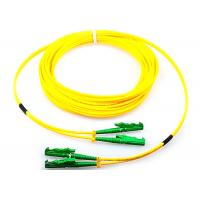 China Single Mode Fiber Optic Patch Cord Duplex G652D 9 / 125 Yellow With E2000 Connector on sale