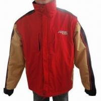 China Men's Ski Jacket with 190T Polyester Lining and SBS Zippers wholesale