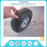 China Staright Valve Pneumatic Rubber Wheels , Pneumatic Caster Wheels 3.50-6 Steel Rim wholesale