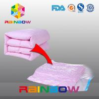 Buy cheap Clear Quilt Compressed Food Vacuum Seal Bags / Costom Plastic Vacuum Storage Pouches from wholesalers