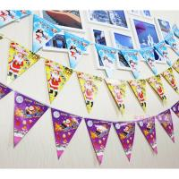 China Customized Waterproof Advertising Flag Banners , Christmas Create Custom Flag Bunting wholesale