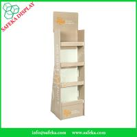 China 4 tier paper material supermarket paperboard display shelf printed corrugated racking display stand for health products wholesale