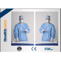 China SMS Sterile Disposable Surgical Gowns , PP PE Spunlace Disposable Operating Gowns  wholesale