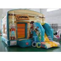 China Inflatable Maxi Multifun Cowboy Bouncy Castles For Boys Fun With Ball Pool wholesale
