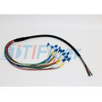 China 12 Core FTTX Fiber Optic Pigtail for Patch Panel , lc pigtail multimode  wholesale