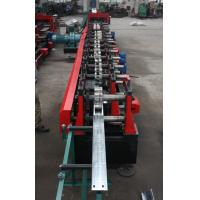 China Customized C Z Purlin Roll Forming Machine , Electric Fully Automatic PLC  Control Export Macedonia wholesale