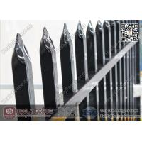 China 2.1m high Steel Picket Fence Powder Coated Black Color  China supplier wholesale