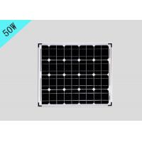 China 50W Tempered Glass Laminating Solar Cells , Multicrystalline Solar Panels With Aluminum Frame on sale
