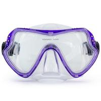 China One Piece Lens Scuba Diving Mask / Adult Diving Mask with Silicone Strap wholesale