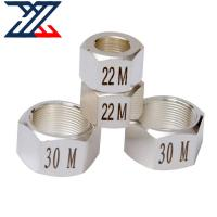 Buy cheap TP304 316 Titanium 4 Axis CNC Production Machining Hexagon Nut from wholesalers