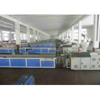 China WPC PVC Skirting Plastic Board Extrusion Line , WPC Cabinet Board Production Line wholesale
