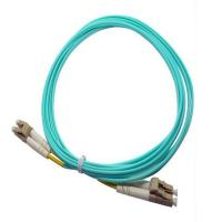 China LC / PC  Aqua  Multimode OM3 Optical Fiber  patch cord for communication wholesale