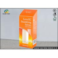 China Embossing Medicine Packaging Box Personalized Orange Rectangle Shaped With Logo wholesale