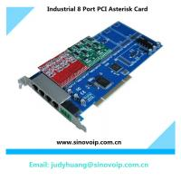8 Port with 8 FXS card Asterisk card for Voip gateway Digium TDM800P,8 ports 16 sims asterisk card gsm gateway