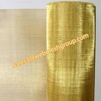 "China 30 Mesh Brass Wire Mesh 0.012"" Wire Dia.1.0m Wide wholesale"