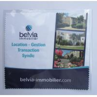 China Microfiber Glasses cleaning Cloth Printed 1 Side, Microfiber Eyeglass Cleaning Cloth on sale