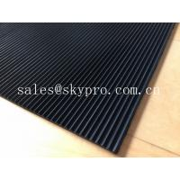 China Flooring / gasket thick 3mm rubber matting , black rubber floor mats wholesale