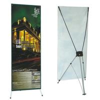 China Advertising  graphic banner stand Trade Show Display X Banner Stand With PVC Banner wholesale