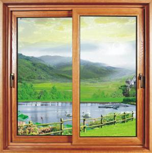 China Kitchen Household Sliding Sash Window Powder Coating /  Reflective Glass Double Slider Window wholesale