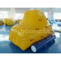 China 0.9mm PVC Tarpaulin Inflatable Iceberg With 2 Sides Climbing For Pool wholesale