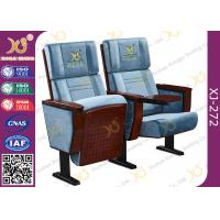 China Split Type Back Rest Auditorium Chair Plain Design With Sewing Logos wholesale