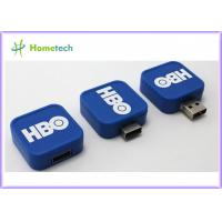 China White Blue Red USB Flash Drive / Twist USB Sticks Promotional for School wholesale