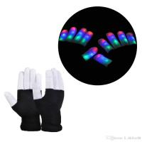 China Creative LED Finger Lighting Flashing Glow Mittens Gloves Rave Light Festive Event Party Supplies Luminous Cool Gloves wholesale