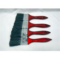 China Pure Bristle Flat Head / Radiator Paint Brush Wooden Handle For Corner Painting wholesale