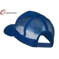 Quality Royal Flag Embroidered Racing Baseball Caps , Trucker Mesh Cap for sale