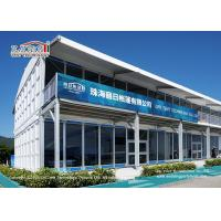 China Fire Retardant And Removable Double Decker Tents With Soft PVC Fabric Wall wholesale
