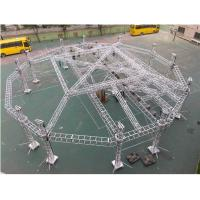 Buy cheap Portable Adjustable Aluminum Box Truss Mobile Stage For Exhibition Easy from wholesalers