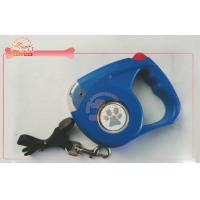 China LED Flashing Light Cord Nylon Retractable Dog Leash With Beam Reflector wholesale