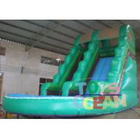 China Outdoor Kids Commercial Inflatable Water Slide Blue For Musement Park wholesale